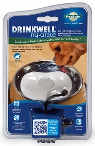 Drinkwell Hy-Drate H2O Filtration System for Healthy Dogs - Ice White