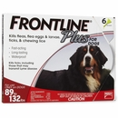 Frontline Plus for Dogs 89-132 lbs - RED, 6 MONTH