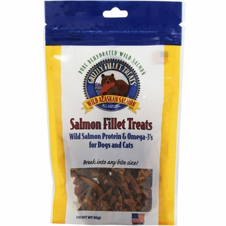 Grizzly Salmon Fillet Treats for Dogs & Cats (3 oz)