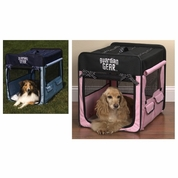Guardian Gear Polka Dot Collapsible Crate Large - Pink