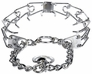 "Herm Sprenger Chrome Plated Stainless Steel Prong Training Collar with Swivel 23"" - Large 3.2mm"