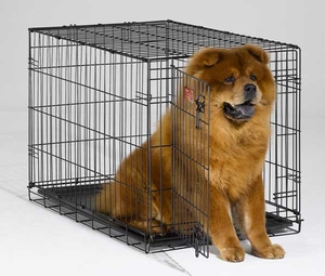 iCrate Folding Dog Crate - 36 x 23 x 25 BLACK