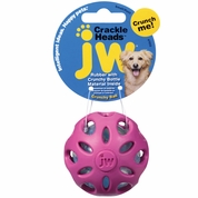 JW Pet Crackle Heads Crackle Ball Dog Toy - Small (Assorted)