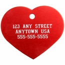Large Heart Pet ID Tag