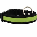 LED Safety Electric Glow Collar - Green (Large)