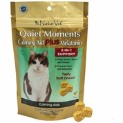 NaturVet Quiet Moments Calming Aid Plus Melatonin for Cats (50 soft chews)