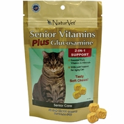 NaturVet Senior Vitamin Plus Glucosamine for Cats (50 soft chews)