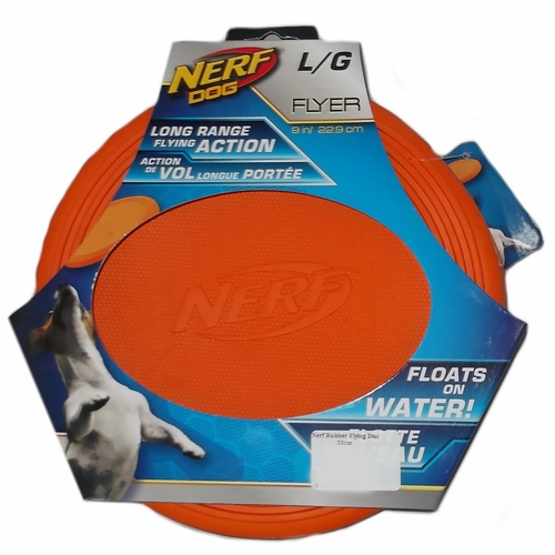 Nerf Dog Rubber Flying Disc Large 9 In Healthypets