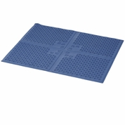 Petlinks Purrfect Paws Litter Mat Blue - XLarge