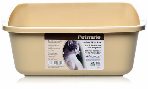 Petmate Litter Pan with Microban Medium - Assorted
