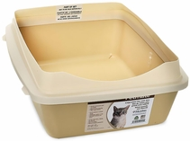 Petmate Rimmed Litter Pan with Microban Large