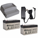 Power Pet Door Battery Charger Kit with 2 Batteries