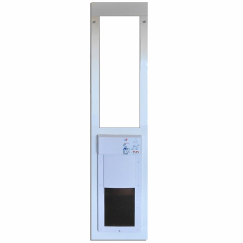 Large power pet low e fully automatic patio door regular height - Power Pet Low E Fully Automatic Patio Door Large Extra