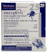 "PREVENTIC Tick Collar 25"" Dogs OVER 60 lbs - SINGLE Collar"