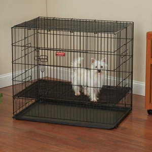 ProSelect Puppy Playpen w/Plastic Pan Small - Black
