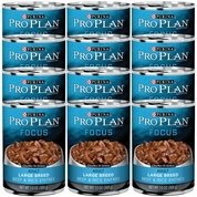 Purina Pro Plan Focus - Beef & Rice Entr�e Canned Large Breed Adult Dog Food (12x13oz)