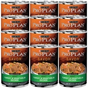 Purina Pro Plan Savor - Turkey & Vegetable Entr�e Canned Adult Dog Food (12x13oz)