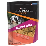 Purina Pro Plan Dog Baked Trios Salmon Treats (13 oz)