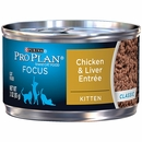 Purina Pro Plan Focus - Chicken & Liver Entrée Classic Canned Kitten Food (24x3 oz)