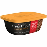 Purina Pro Plan Savory Meals - Braised Beef Entr�e Adult Dog Food (10 oz)