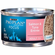 Purina Pro Plan Focus - Salmon & Tuna Entr�e Classic Canned Adult 11+ Cat Food (24x3 oz)