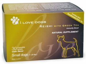 Reishi with Green Tea - Small Dogs (30 Tablets)