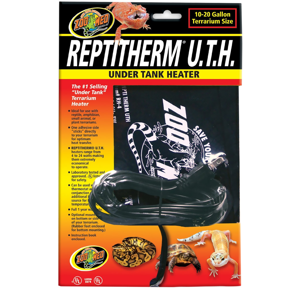 Reptitherm Under Tank Heater 10 20 Gallon 6 Quot By 8 Quot