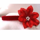 Rhinestone Dog Collars - Red Velvet Poinsettia