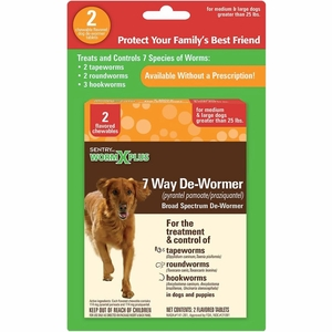 Sentry HC WormX Plus Medium & Large Dogs over 25 lbs (12 tablets)