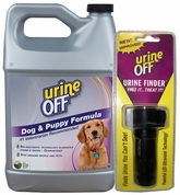 Urine-Off Odor & Stain Remover FOR DOGS (GALLON) + UV Lamp