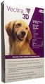 Vectra 3D PURPLE for Dogs 56-95 lbs - 6 Doses