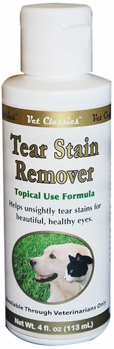 Vet Classics Tear Stain Topical Remover Liquid (4 oz)