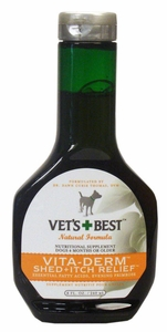 Vet's Best Vita-Derm Shed & Itch Relief For Dogs (8 fl oz)