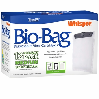 Whisper Unassembled Bio-Bag Cartridge Medium (12 pack)