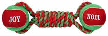 Zanies Noel & Joy Tennis Tug - Red/Green