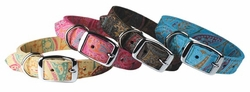 New! Paisley Suede Dog Collars