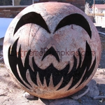 A Metal Buoy Pumpkin