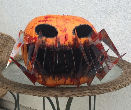 Black Fangs Make This Pumpkin Look Cool.