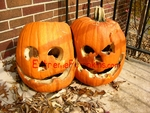 Old and Crusty Siamese Twins Pumpkin