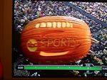 The ABC sports pumpkin on TV