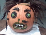 The Centipede Face Pumpkin