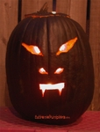 The Flat Black Pumpkin Looked Evil
