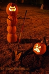 The Grave Digger and Victim Pumpkin Scene