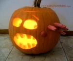 The Hand Through The Head Pumpkin