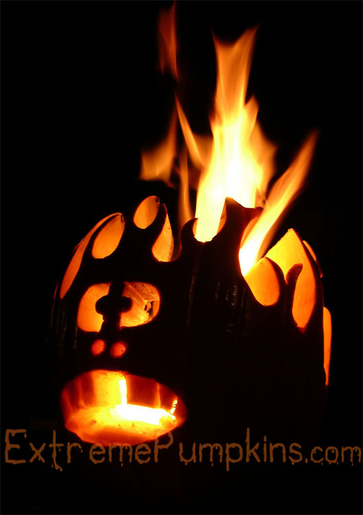 The Head on Fire Pumpkin - Remake of a Classic