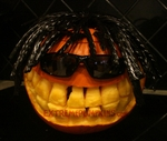 The Rasta Pumpkin - Uses Twizzlers