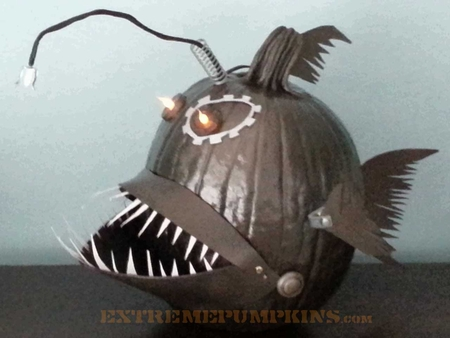 The Steampunk Angler Fish Pumpkin
