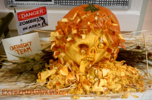 The Zombie Pumpkin Carving