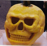 This Year's Coolest Pumpkin Skull