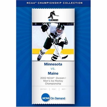 2002 NCAA Division 1 Mens Ice Hockey DVD - National Championship - Minnesota vs. Maine